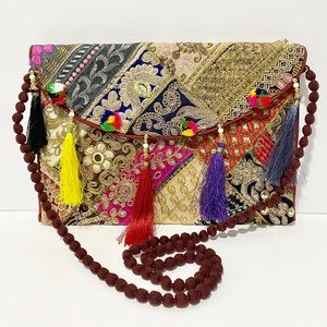 ❤️ Handmade Moroccan Boho Envelope Crossbody Bag